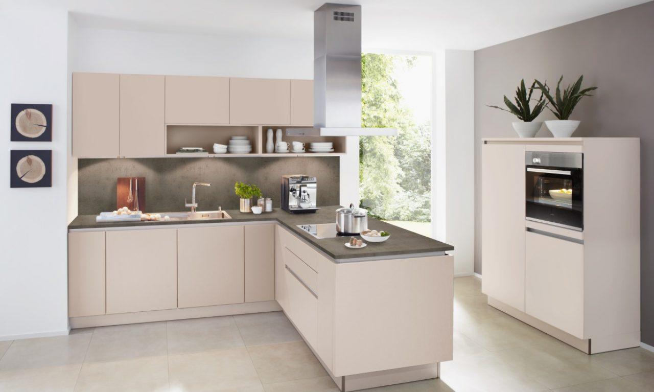 L Vorm Keuken : Tweedelige l vorm keuken soft lack 1op1